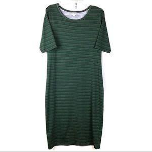 Lularoe Julia midi dress short sleeves Size 2XL